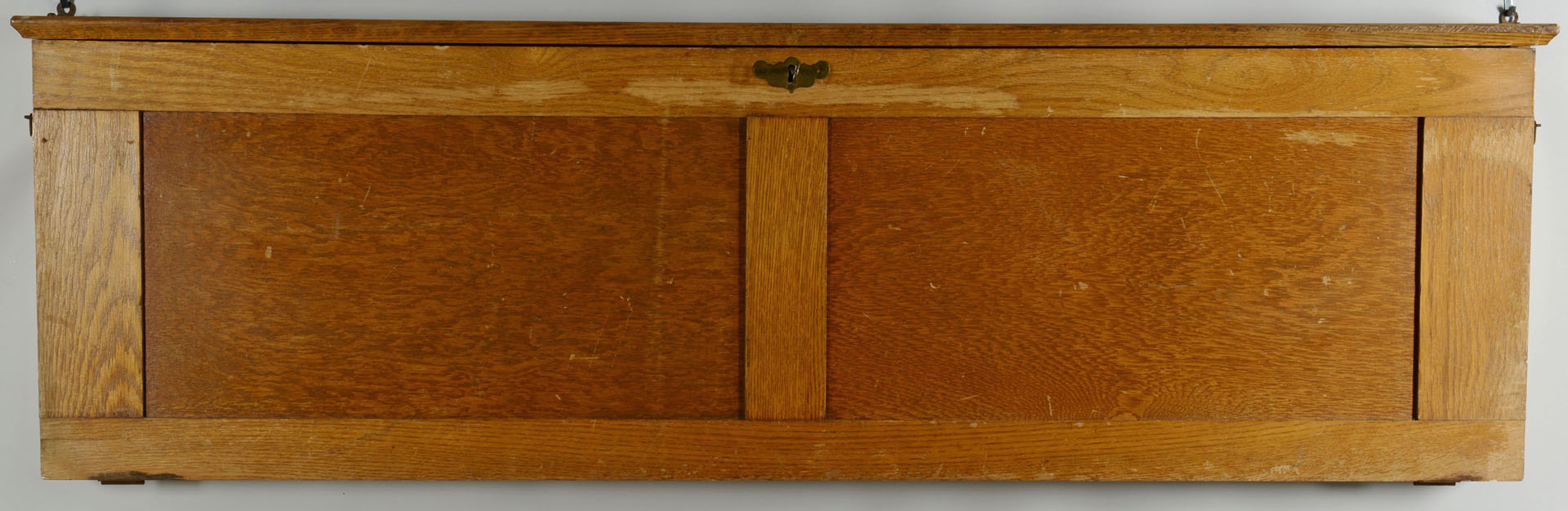 Oak Map Case w/six large maps c.1920
