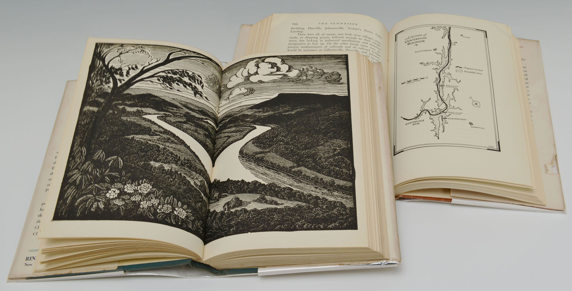 Lot 492: Theresa Davidson Woodblock Print and Books, 1 sign