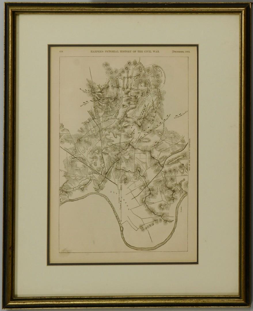 2 Framed Harper's Prints, TN Civil War
