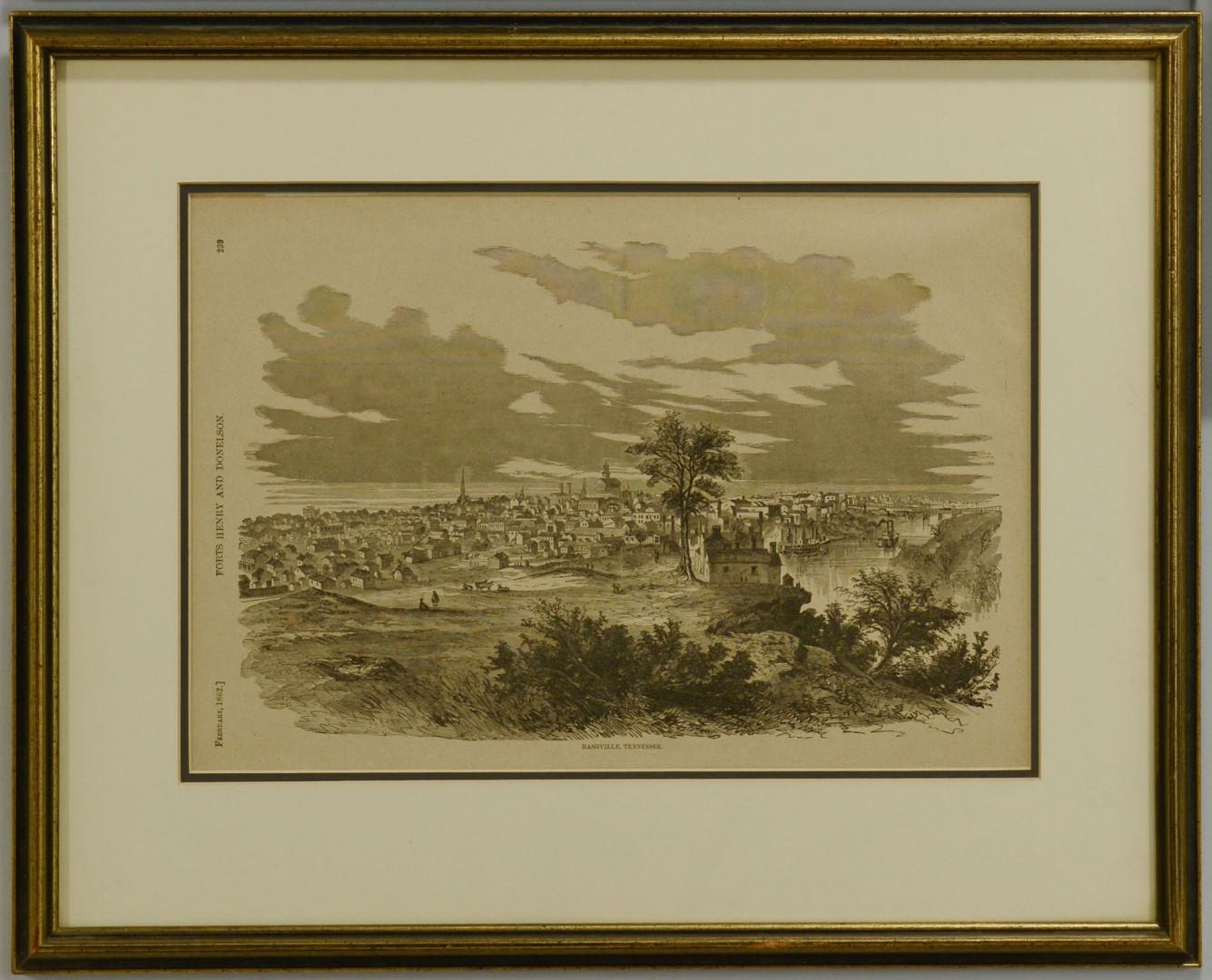 Lot 493: 2 Framed Harper's Prints, TN Civil War