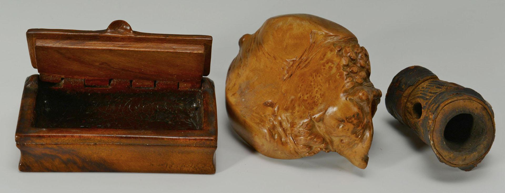 3 Folk Art Carvings and a Civil War Fife (4 items)
