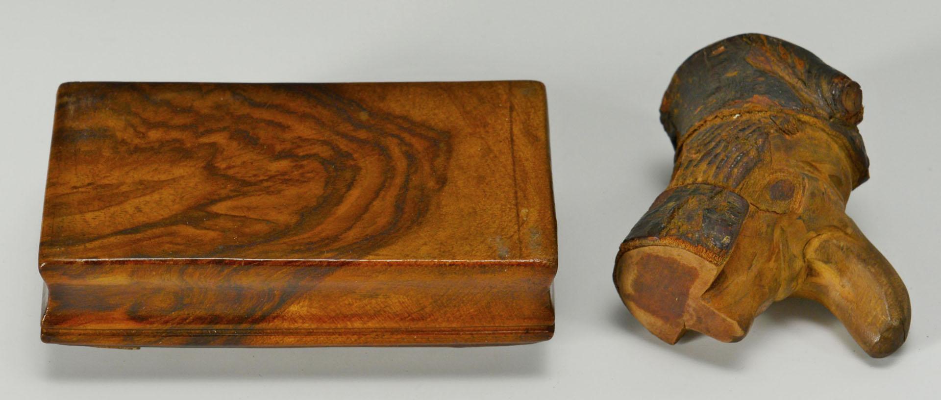 Lot 497: 3 Folk Art Carvings and a Civil War Fife (4 items)