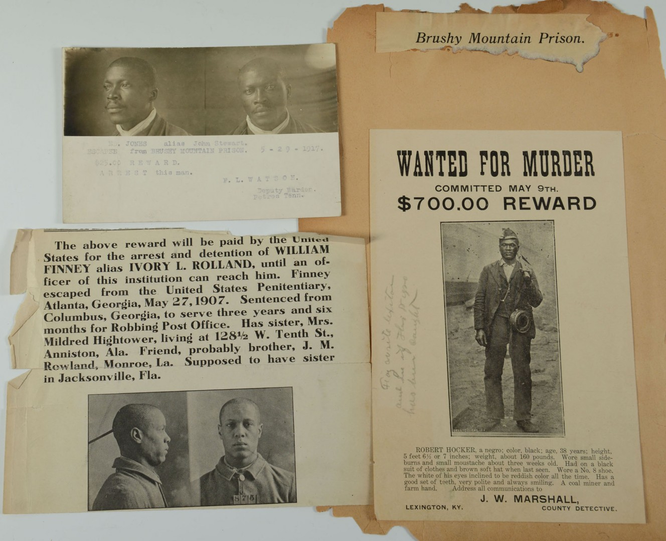 Lot 508: Group of African American Wanted Notices