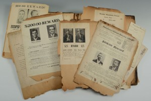 Lot 509: Sheriff of Knox Cty, TN Scrap Bk Wanted Posters