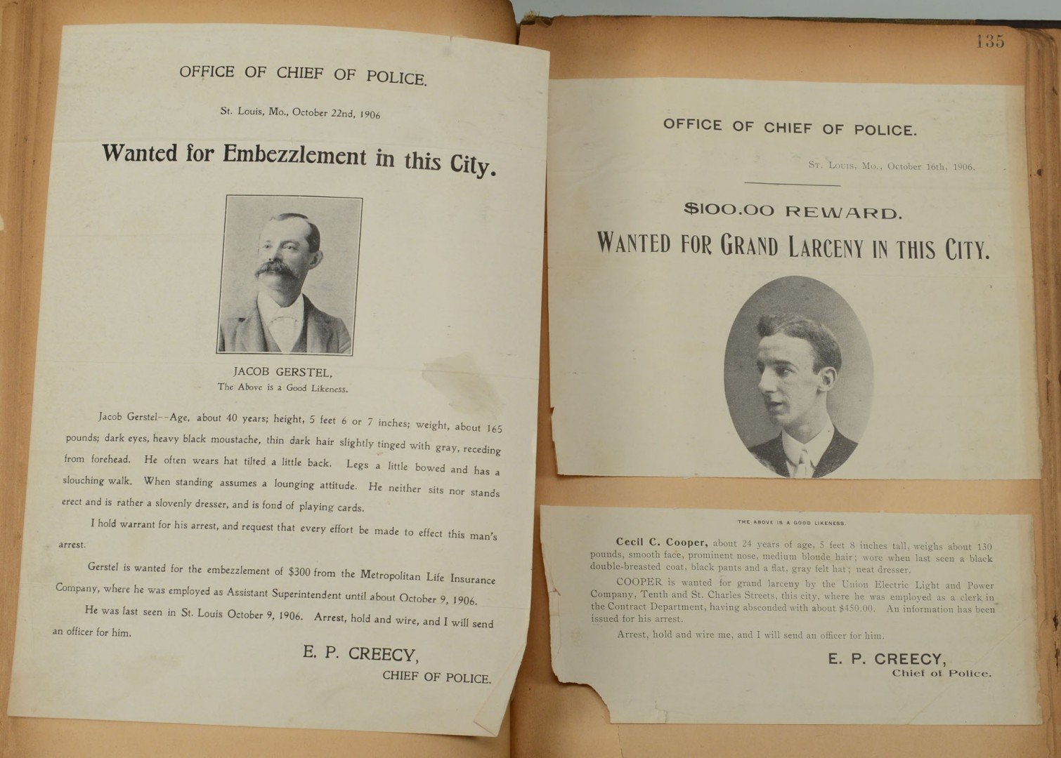 Sheriff of Knox Cty, TN Scrap Bk Wanted Posters