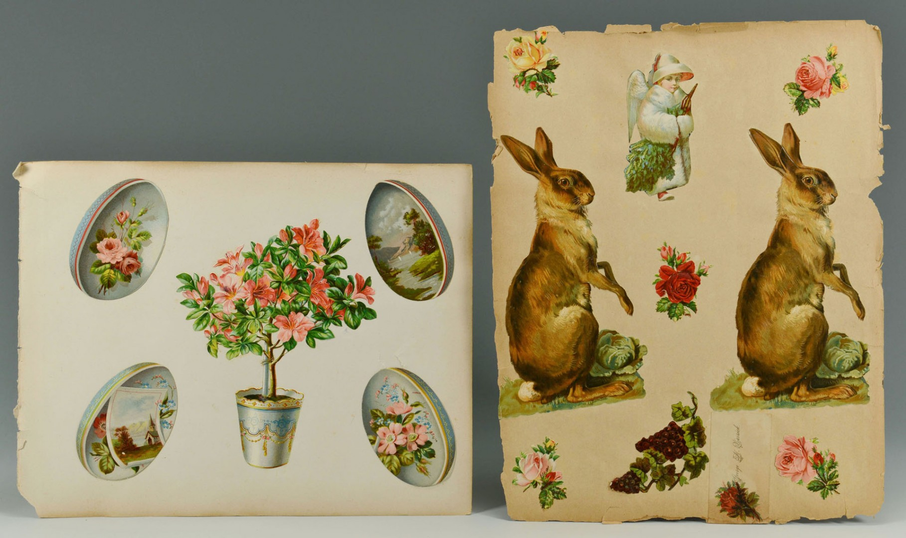 Grouping of Easter Containers & Decorative Items