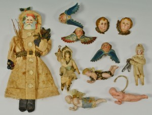 Lot 516: Grouping of early German Christmas ornaments