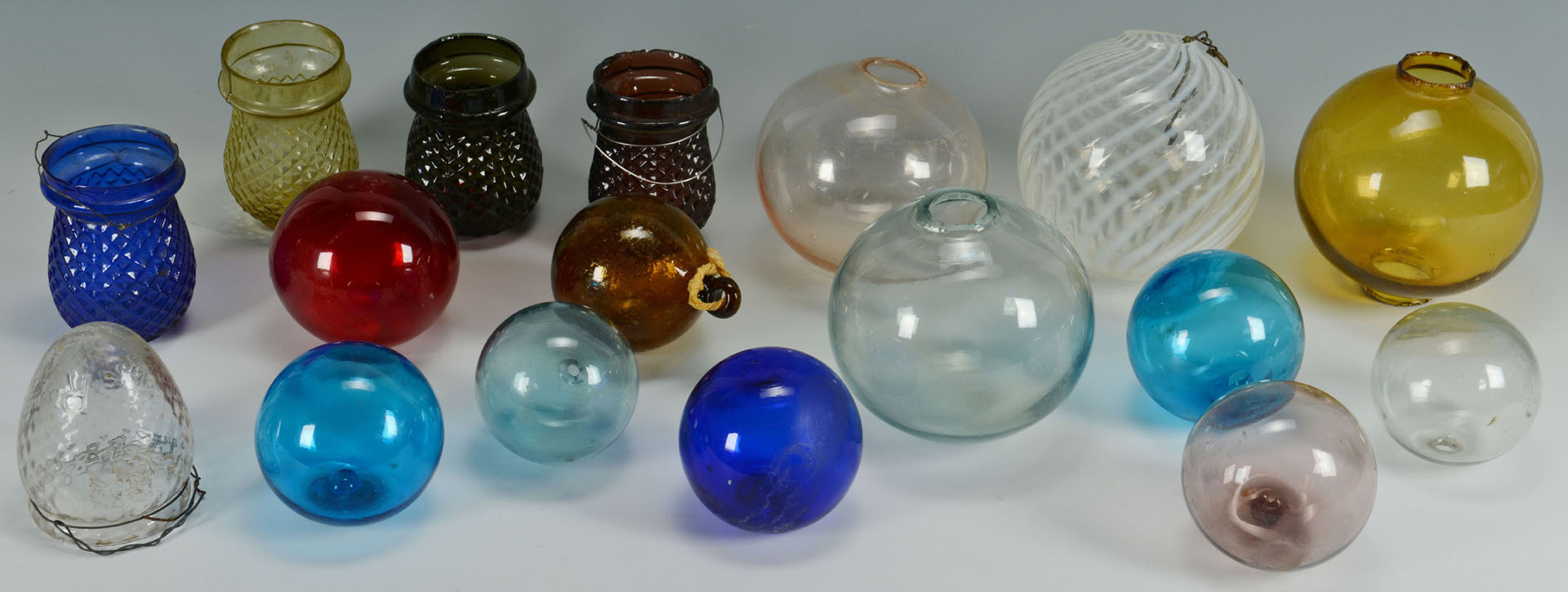 Glass Christmas Ornaments & Balls, 17 pcs.