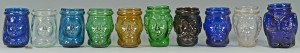 Lot 519: 10 Figural Glass Christmas Lights or Lanterns