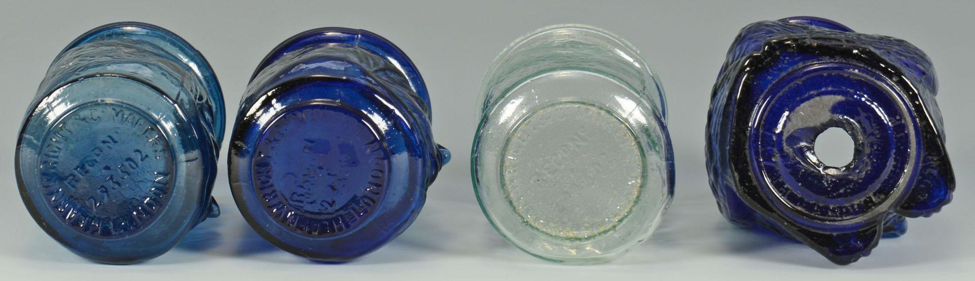 Lot 519: 10 Figural Glass Christmas Lights or Lanterns
