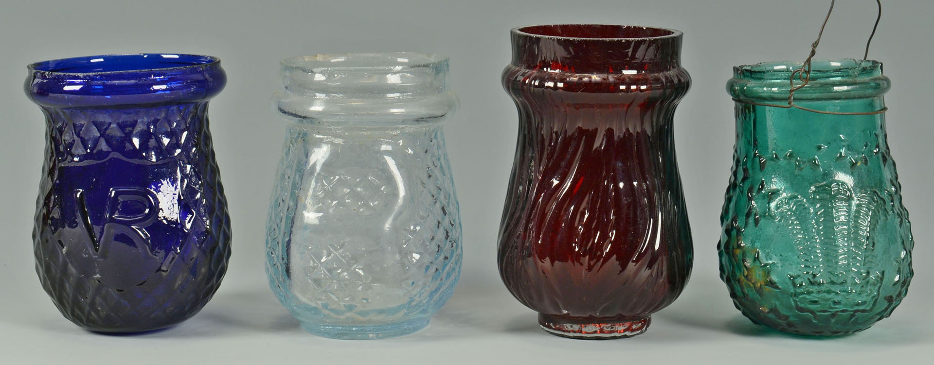 Lot 520: 12 Colored Christmas lights, lanterns, and vase