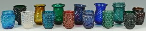 Lot 521: 14 Early Glass Christmas Candle Lights or Lanterns