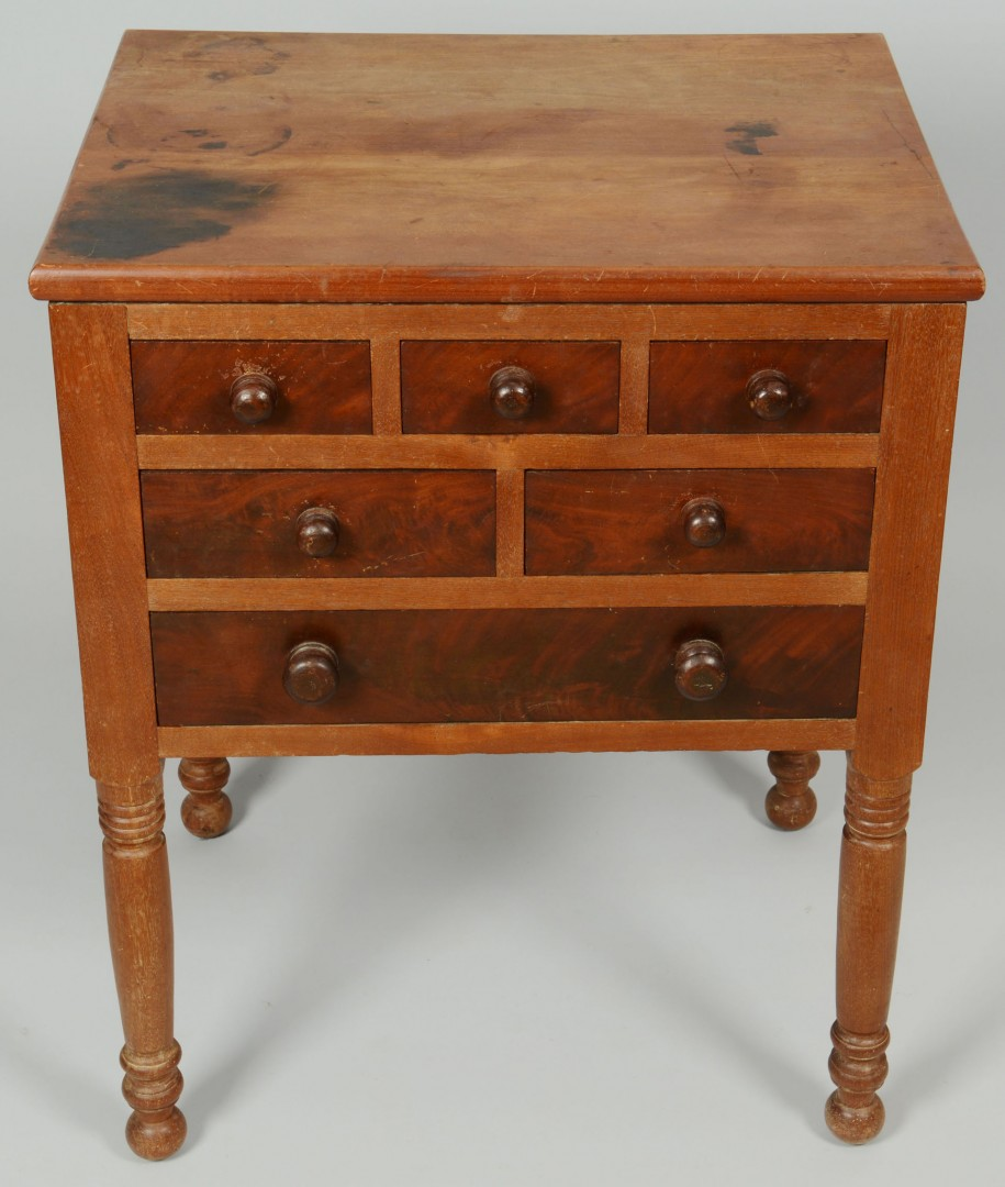 Lot 52: Southern or Mid-Atlantic 6 Drawer Work Table