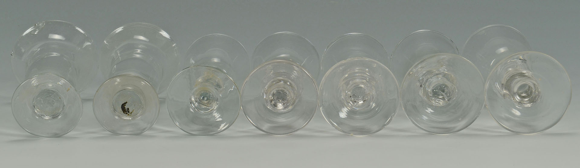 Lot 531: Early Blown Glass Drinking Vessels, 11 items