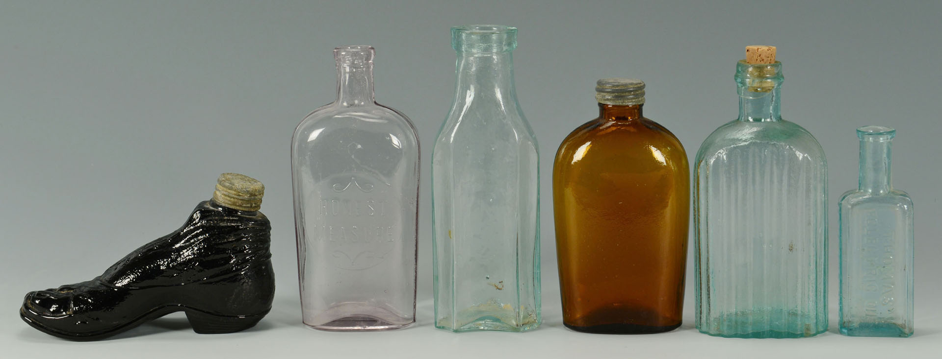 Lot 532: Group of Early Glass Bottles, total 12