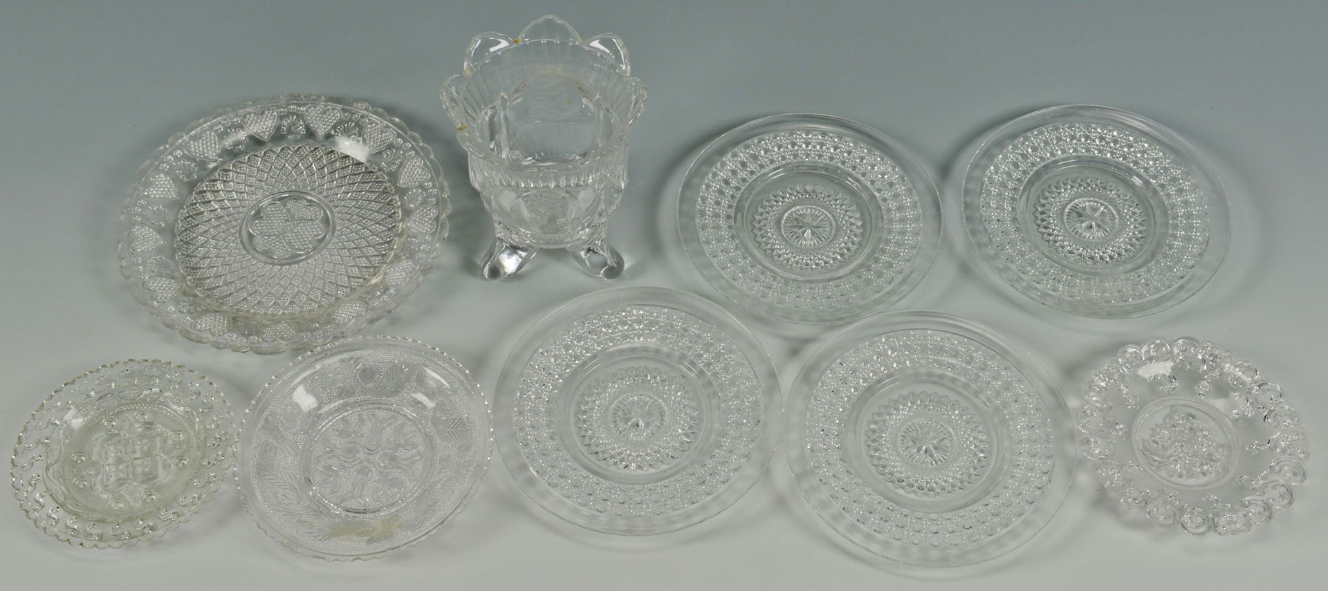 Lot 533: Large Grouping Sandwich, US Coin & Flint Glass