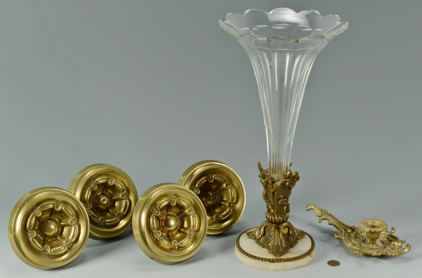 4 Curtain Tiebacks,  Candle Holder & Vase