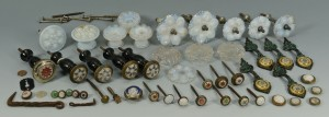 Lot 535: Large Grouping of Tiebacks, Other Hardware