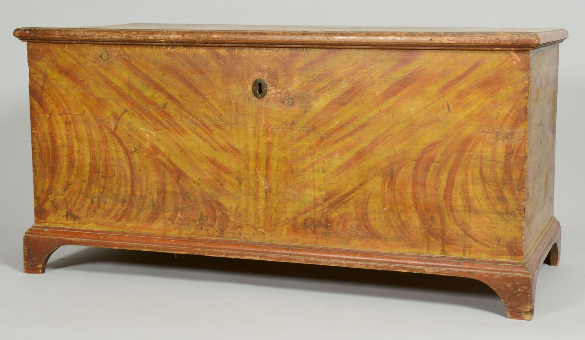 Lot 53: Paint Decorated Blanket Chest