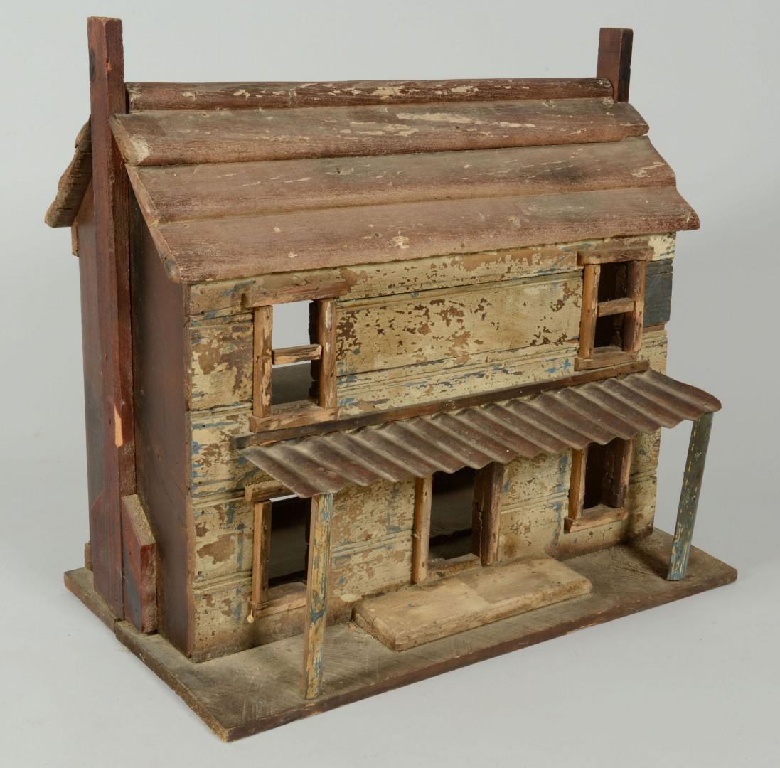 Lot 545: Folk Art Dollhouse Cabin