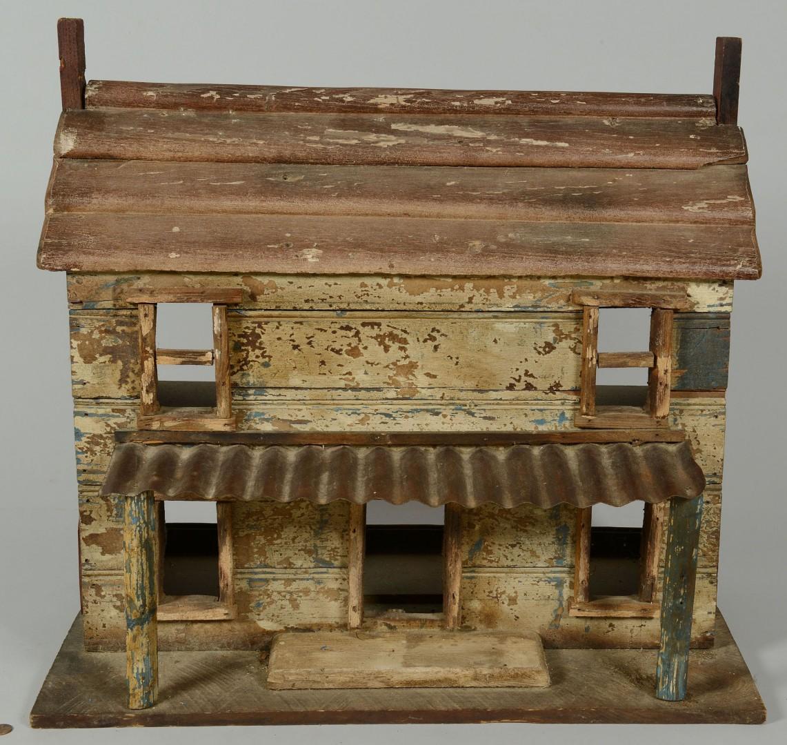 Folk Art Dollhouse Cabin
