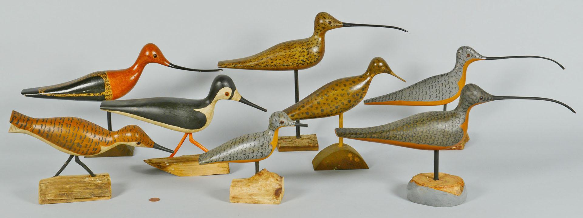 8 Shorebirds by Percy Perkins, N.H.