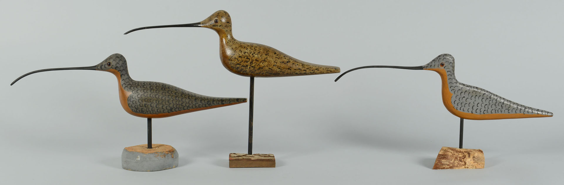 Lot 550: 8 Shorebirds by Percy Perkins, N.H.