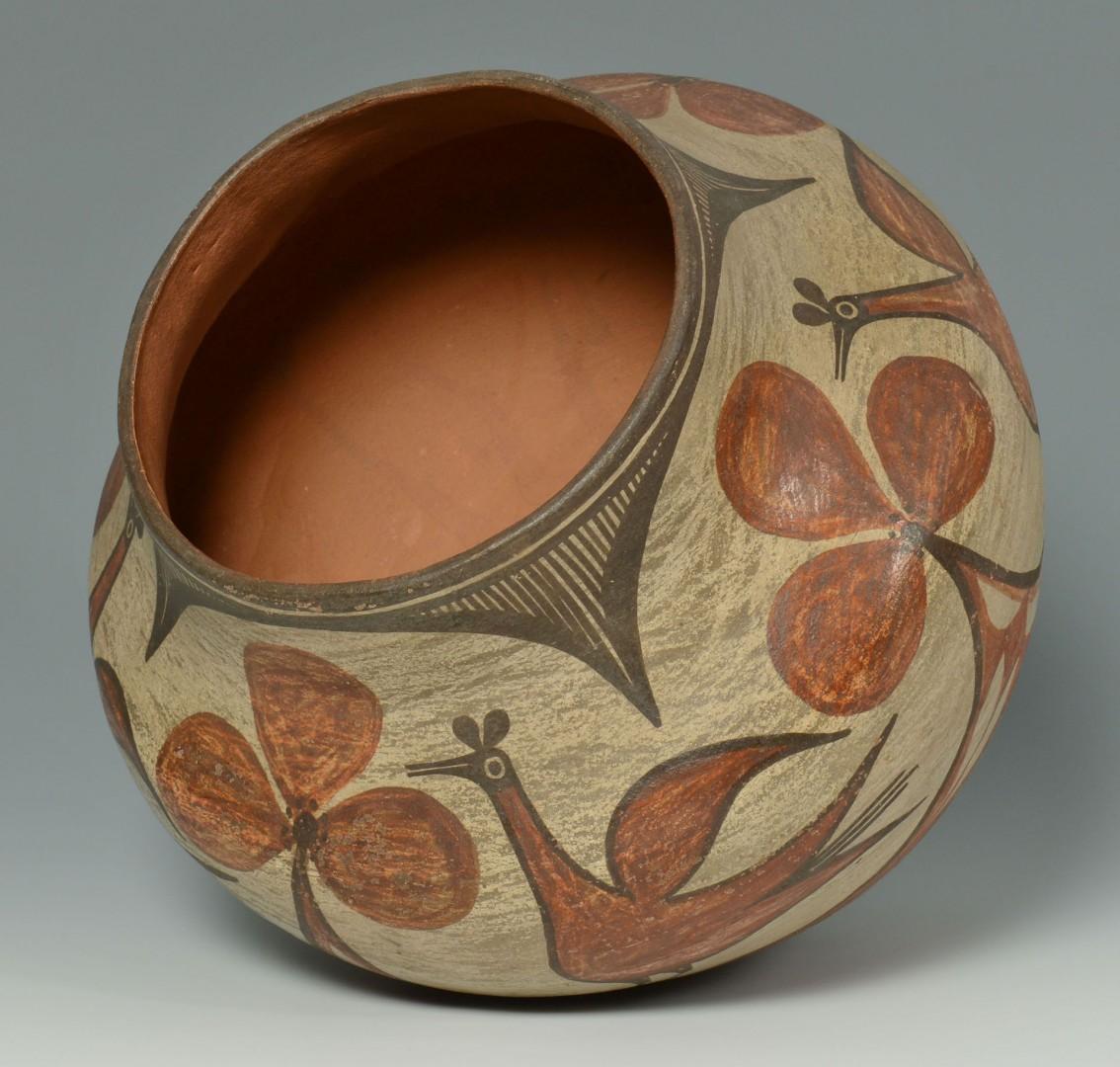 Lot 554: Zia Redware Pottery Olla