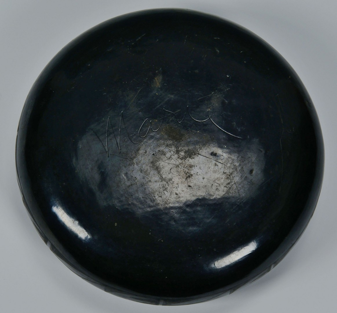 Lot 555: Maria Martinez San Ildefonso Blackware Bowl