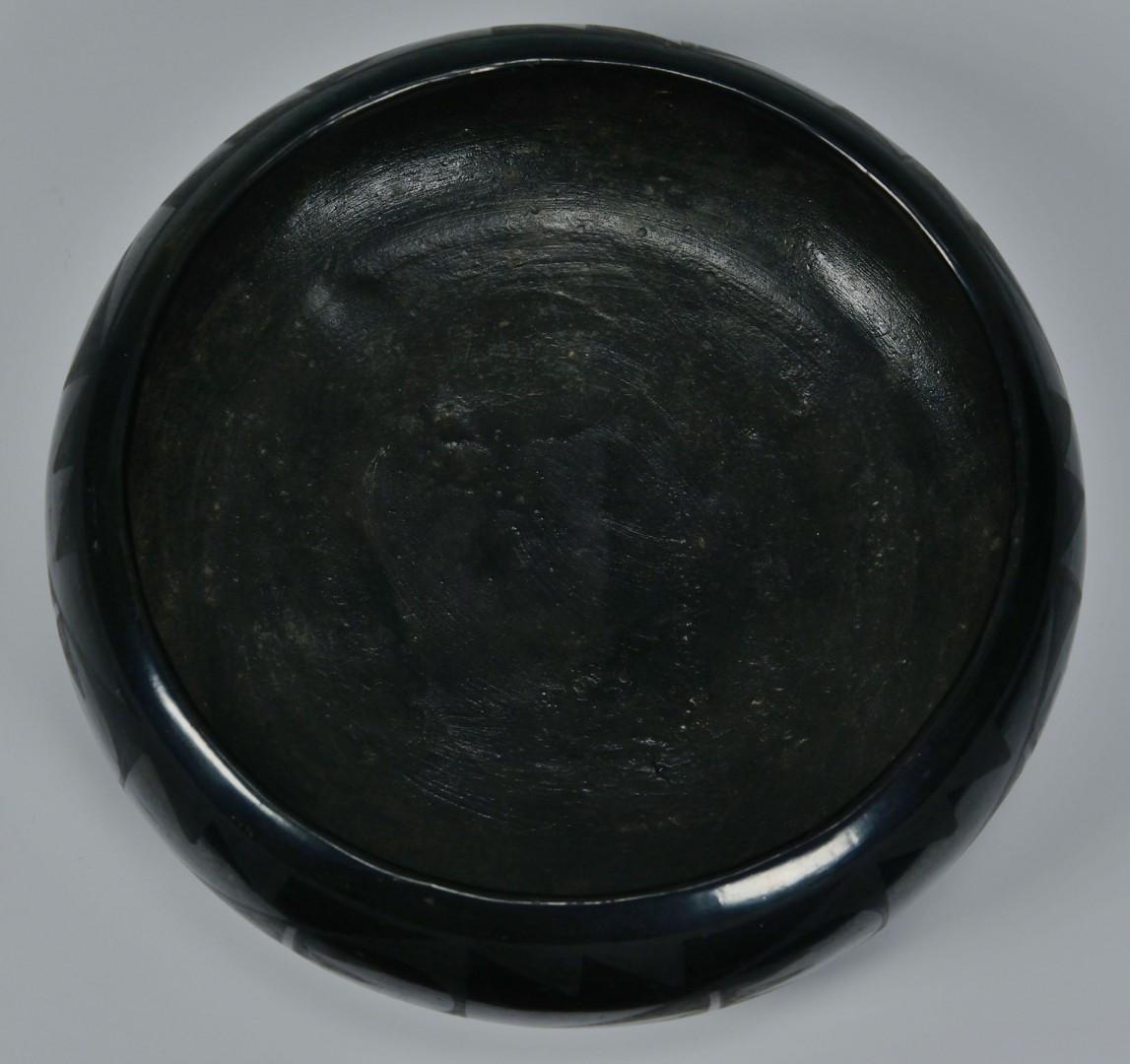 Lot 555: Maria Martinez San Ildefonso Blackware Bowl