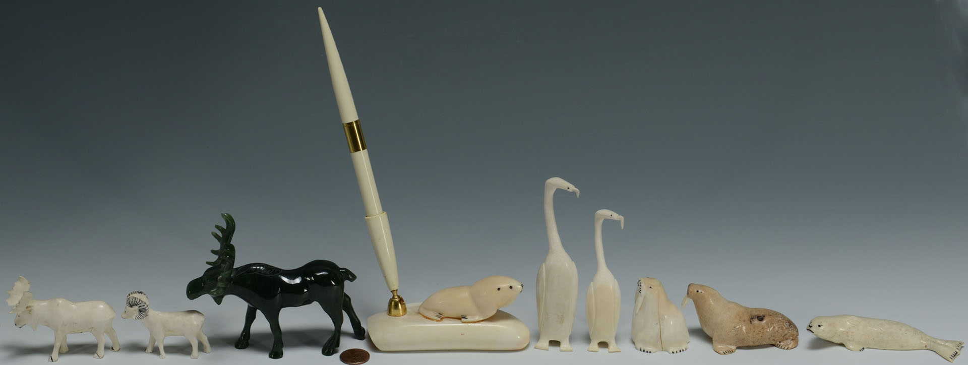 Group of Native American Ivory & Bone Carvings