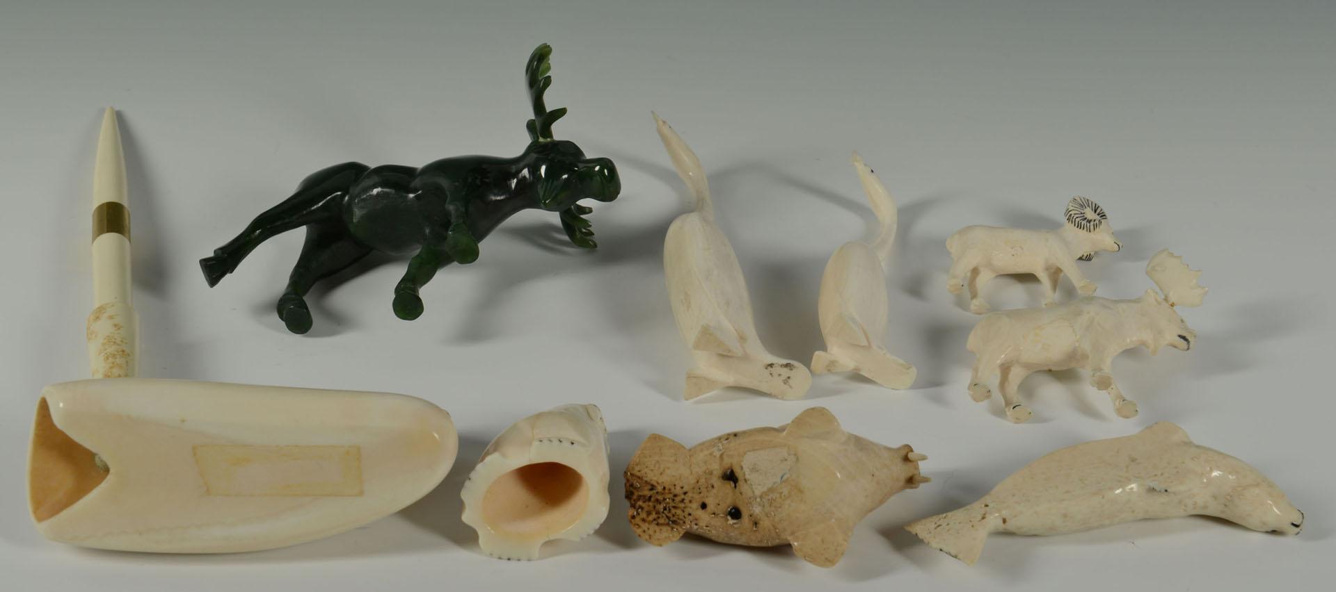 Group of Native American Ivory & Bone Carvings