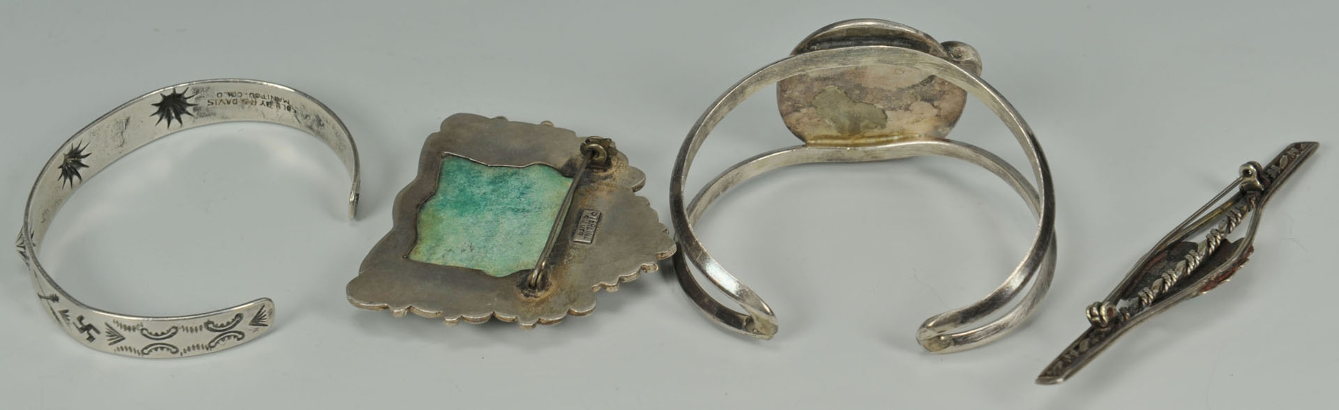 Group of Southwestern turquoise jewelry