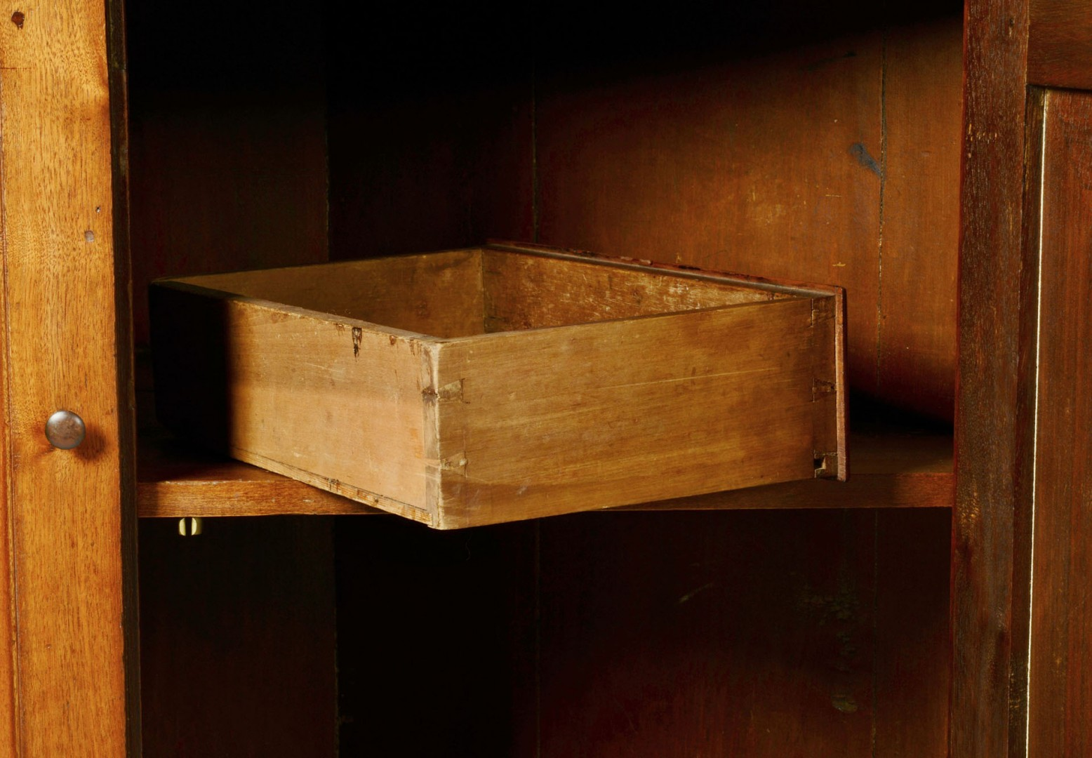 Southwest VA Corner Cupboard w/ ivory inlay