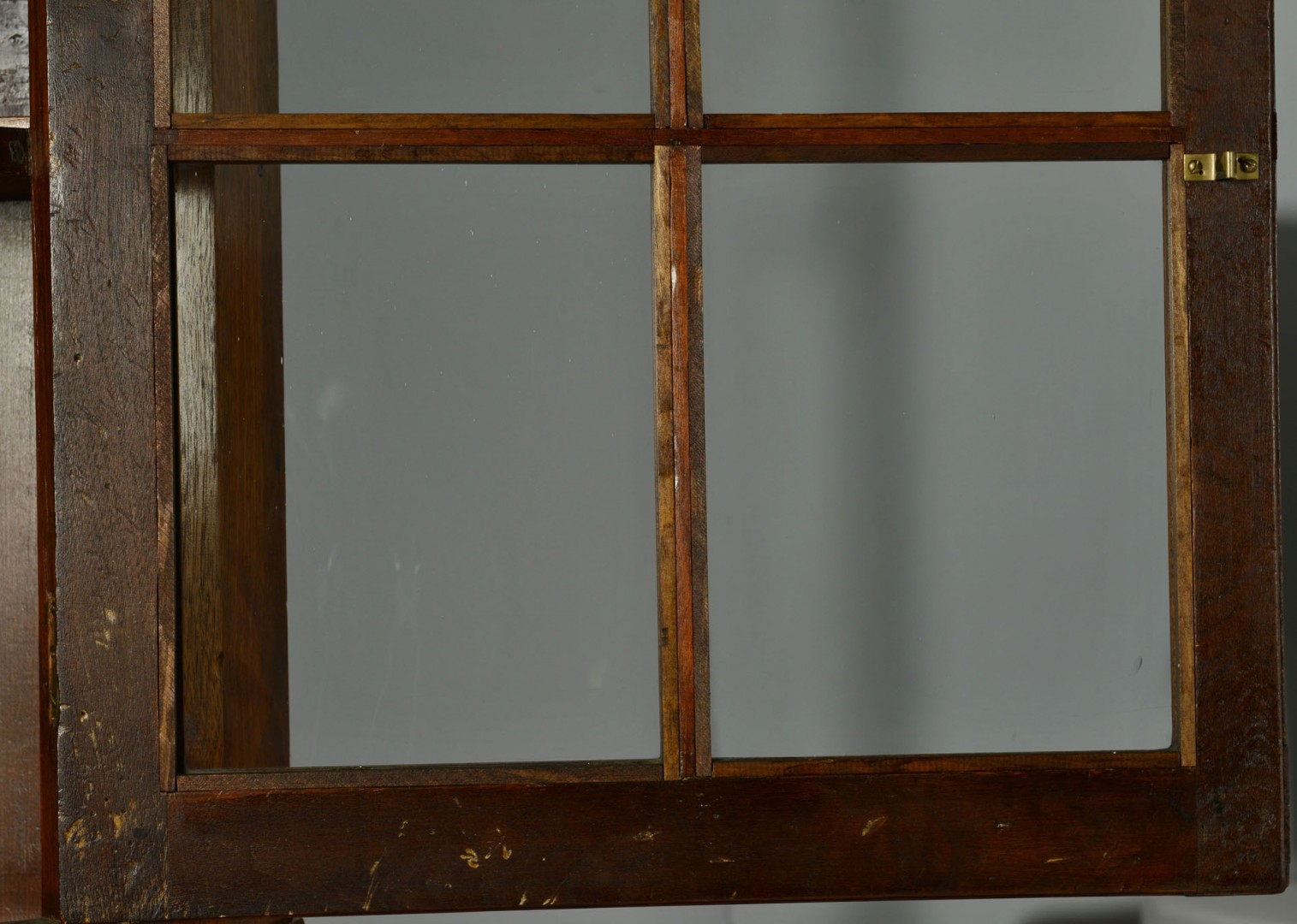 Lot 55: Southwest VA Corner Cupboard w/ ivory inlay