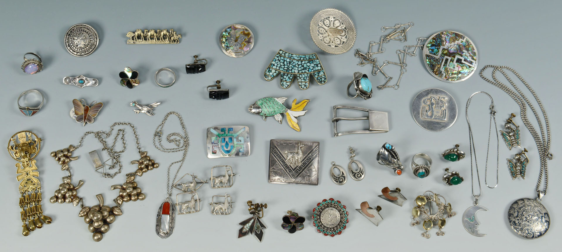 Lot of Silver Jewelry inc. Native American, Mexican