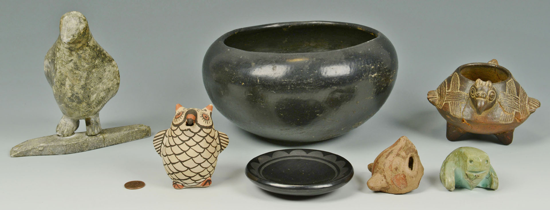 5 Native American objects, incl. Blue Corn, other