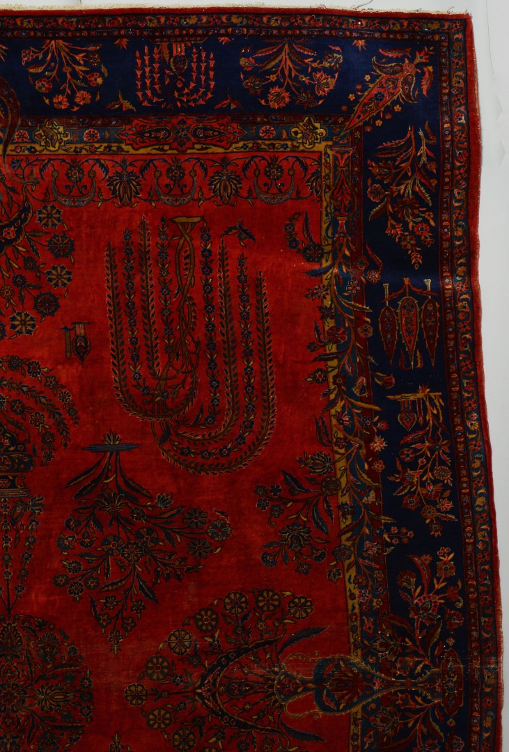Semi-Antique Persian Manchester Kashan Carpet