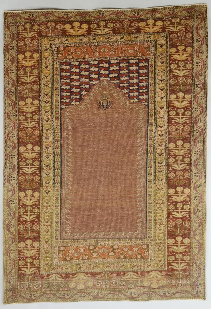 Semi-Antique Turkish Ghiordes Prayer Rug, 6.5 x 4.5