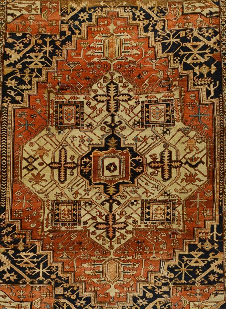 Lot 570: Antique Persian Heriz Carpet, 9.7 x 12
