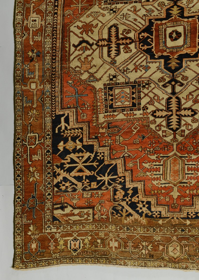 Antique Persian Heriz Carpet 9 7 X 12