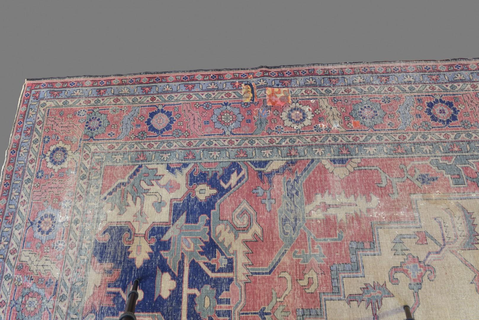 """Antique Isparta Serapi style Carpet, 21'6"""" x 12'6"""""""