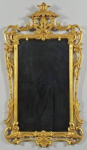 Lot 576: Rococo Style Gilt Wood Mirror