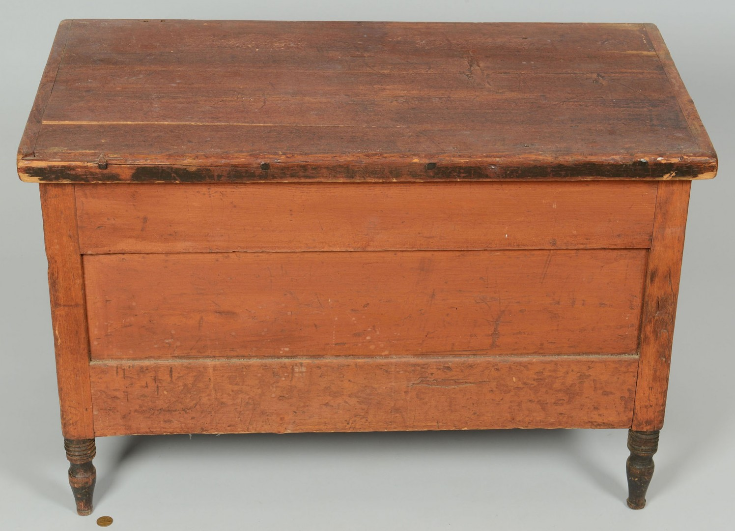 Lot 57: Red Painted Child's Blanket Chest