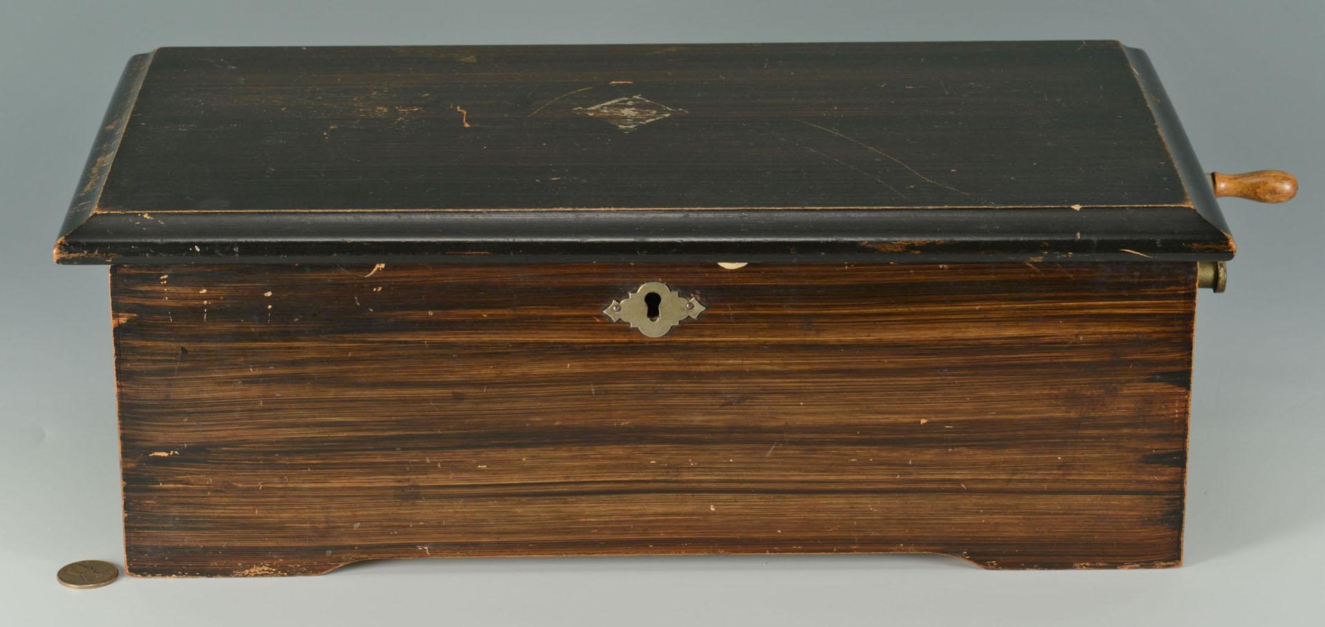 Lot 582: Mermod Freres Cylinder Music Box, 6 tunes