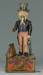 Lot 583: Uncle Sam Cast Iron Mechanical Bank