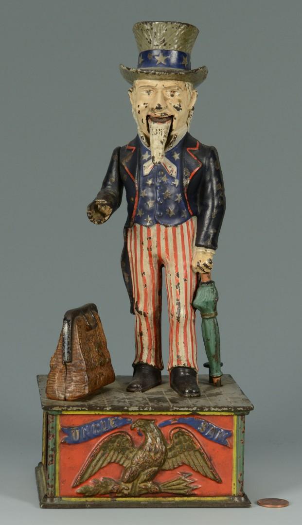 Lot 583: Uncle Sam Cast Iron Mechanical Bank