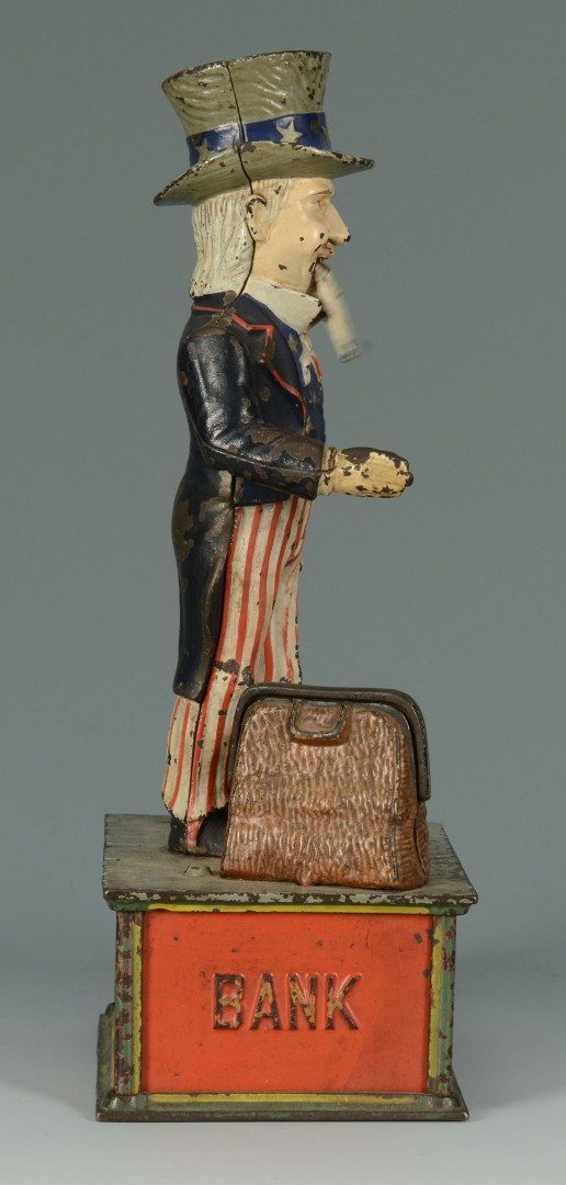 Uncle Sam Cast Iron Mechanical Bank
