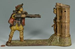 Lot 584: William Tell Cast Iron Mechanical Bank