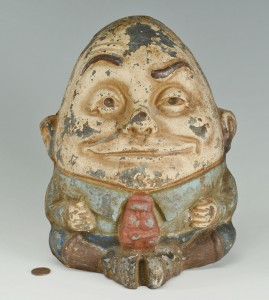 Lot 588: Cast Iron Humpty Dumpty Doorstop